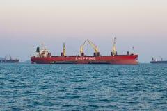 Kommersiellt skepp arkivfoton