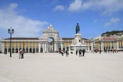 Kommersiellt ställe i Lissabon Arkivbilder