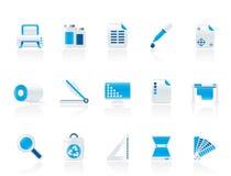 kommersiellt symbolstryck vektor illustrationer