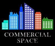 Kommersiellt utrymme beskriver den Real Estate Sale 3d illustrationen Royaltyfri Illustrationer