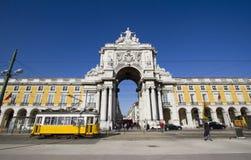 kommerslisbon portugal fyrkant royaltyfri foto