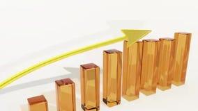 Kommerzielle Grafiken Erfolg im Geschäft und in der Finanzierung lizenzfreie abbildung