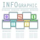Kommerzieller infografic Hintergrund Stockbilder
