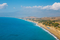 Kommos, sandy beach near Matala and Kalamaki, Crete. Kommos, beautiful sandy beach near Matala and Kalamaki, Crete, Greece Stock Photo