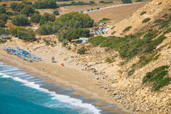 Kommos, beautiful sandy beach near Matalai, Crete Stock Image