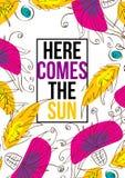 Kommt hier der Sun Stockbilder