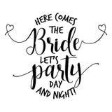 Kommt hier die Braut ließ ` s Partei vektor abbildung
