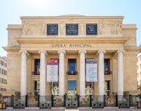 Kommunal byggnad för opera i Marseille Royaltyfri Fotografi