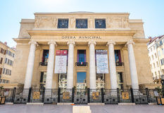 Kommunal byggnad för opera i Marseille Arkivfoton
