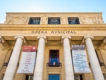 Kommunal byggnad för opera i Marseille Royaltyfri Bild