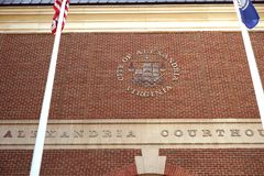 Kommunal domstolsbyggnad - Alexandria, Virginia Arkivfoton