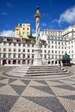 Kommunal fyrkant i Lissabon Royaltyfria Bilder