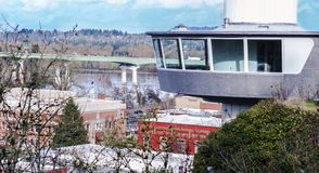 Kommunal hiss för Oregon stad Arkivfoto