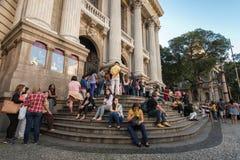 Kommunal teater av Rio de Janeiro Arkivbild