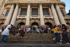 Kommunal teater av Rio de Janeiro Fotografering för Bildbyråer