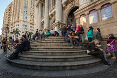 Kommunal teater av Rio de Janeiro Arkivfoto