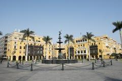 Kommunalt byggande stadshus f?r Lamunicipalidadde lima p? plazaborgm?starearmas lima Peru fotografering för bildbyråer