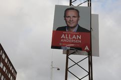 Kommunalwahlposter im copenahgen Dänemark Lizenzfreie Stockfotos