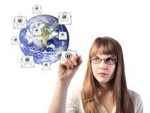 kommunikation över hela världen arkivbild