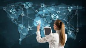 Kommunikation über Welt Lizenzfreie Stockfotos