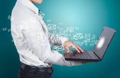 Kommunikation des Geschäfts. Lizenzfreies Stockbild