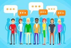 Kommunikation des Leute-Gruppen-Chat-Sozialen Netzes vektor abbildung