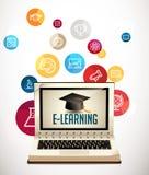 IT-Kommunikation - E-Learning stock abbildung
