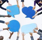 Kommunikation för affärsfolk som möter Team Concept stock illustrationer