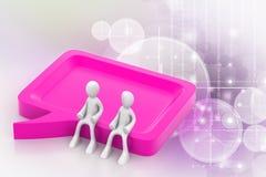 kommunikation för folk 3d tillsammans Arkivfoton