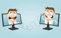 Kommunikation för folk för rolig affär Arkivbilder