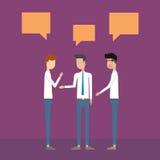 Kommunikation för folkaffärsman på arbetsbegrepp stock illustrationer
