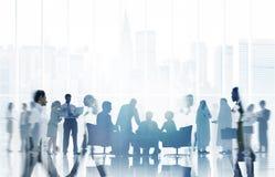Kommunikation företags Team Concept för affärsfolk Royaltyfria Foton
