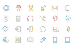 Kommunikation farbige Entwurfs-Vektor-Ikonen 1 Lizenzfreie Stockfotografie