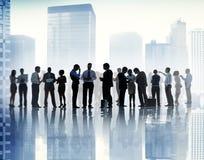 Kommunikation företags Team Concept för affärsfolk Royaltyfri Foto