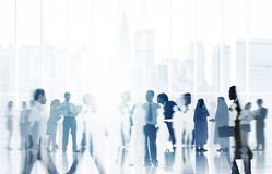 Kommunikation företags Team Concept för affärsfolk Arkivbilder
