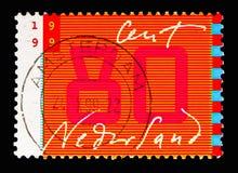 Kommunikation: handskrift och stiliserad bildskärm, tio för bokstäver royaltyfri bild
