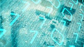 Kommunikation i cyberspace, framtida säkerhetsmaskinvara arkivfoto