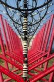 Kommunikation Leitung zur Schaltanlage vom Radioübermittlerturm Stockfotografie