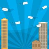 Kommunikation mit Postumschlag lizenzfreies stockfoto