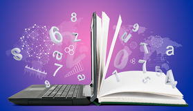 It-kommunikation som e-lär royaltyfria foton