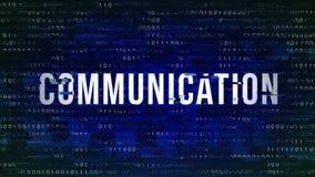 Kommunikation - tekniskt felmodeord med binärt i bakgrunden royaltyfria foton