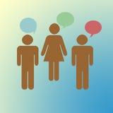 Kommunikation und Geschäft stock abbildung