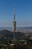 Kommunikationen Collserola Kontrollturm Barcelona Spanien Stockfotografie