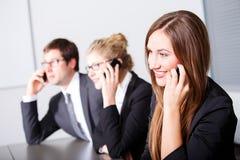 Kommunikationen im Geschäft Stockfotografie