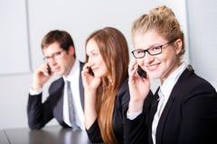 Kommunikationen im Geschäft Lizenzfreie Stockbilder
