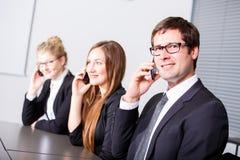 Kommunikationen im Geschäft Stockfotos