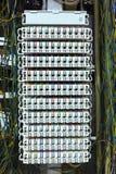 Kommunikationen kontrollerar går runt panelen. Royaltyfria Bilder
