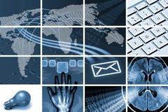 Kommunikationen und Technologieaufbau lizenzfreies stockbild