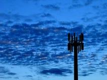 Kommunikations-Blau stockbild
