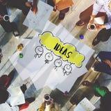 Kommunikations-Brainstormings-Ideen-Konzept Lizenzfreies Stockbild